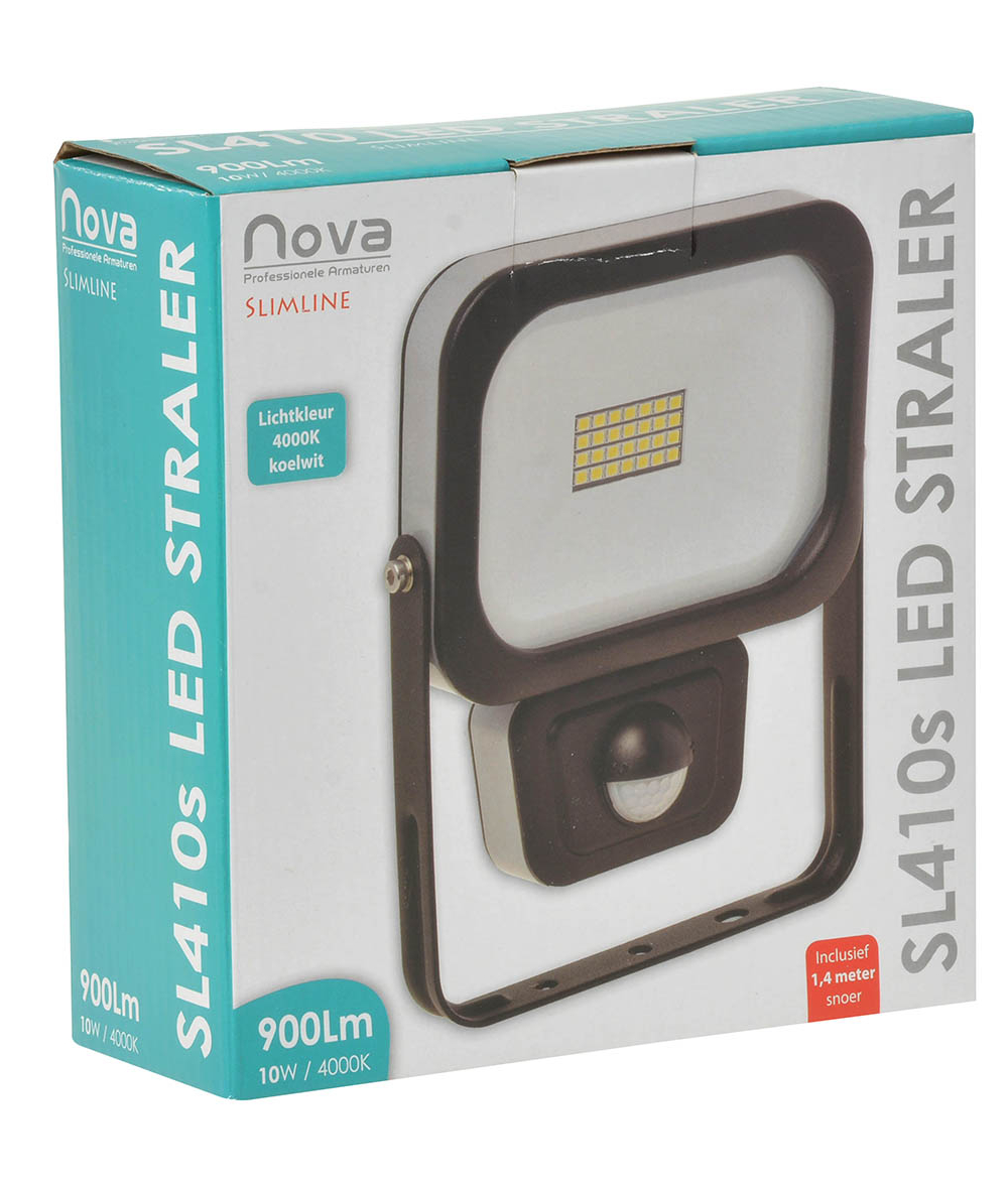 Nova SL410s slimline LED straler met sensor 10W 4000K_2