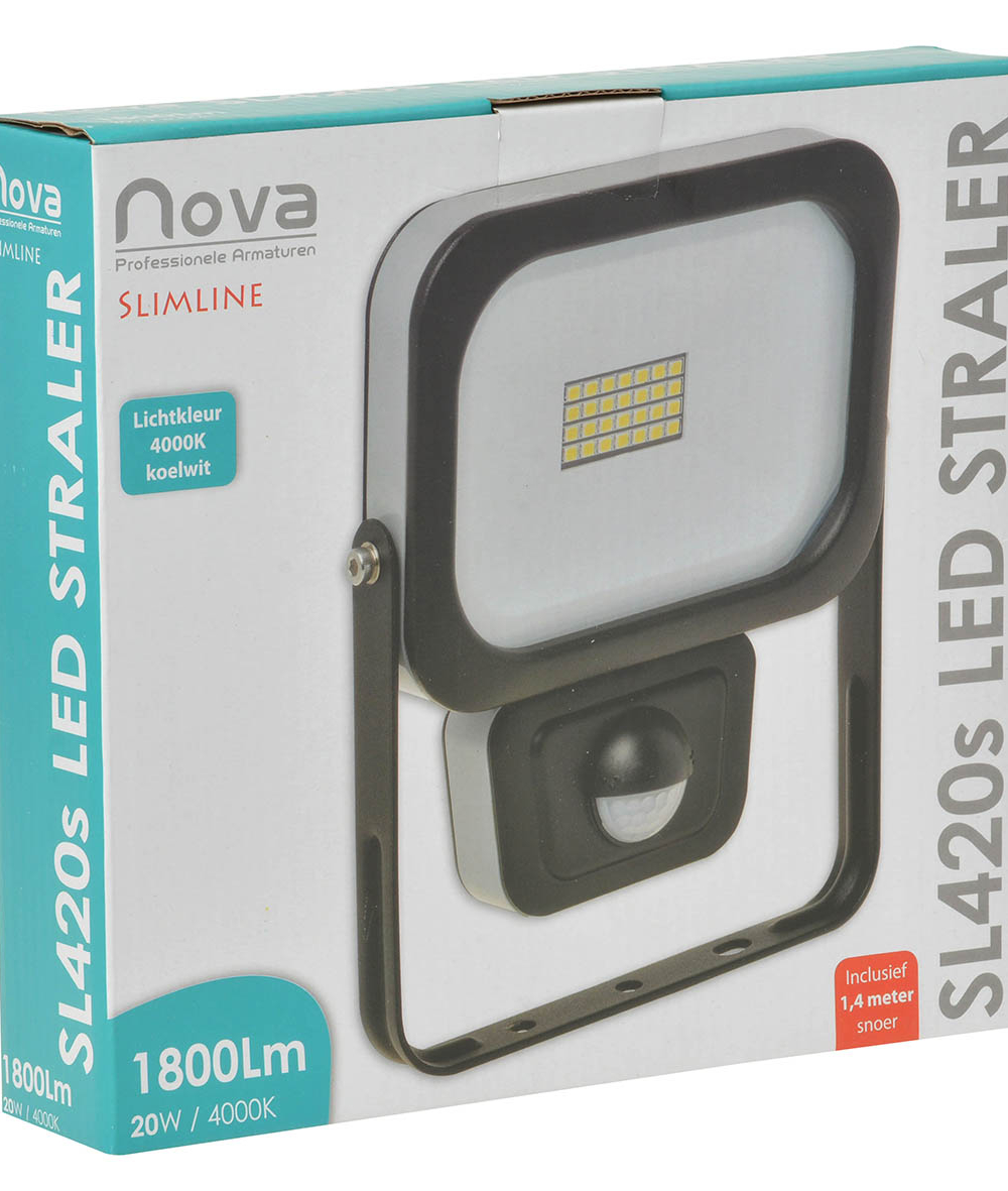 Nova SL420s slimline LED straler met sensor 20W 4000K_2