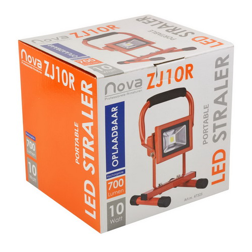 Nova ZJ10R oplaadbare LED bouwlamp 10 Watt