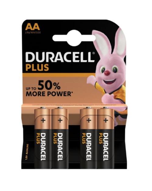 Duracell Plus AA batterijen 4 stuks