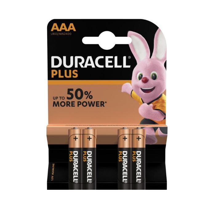 Duracell Plus AAA batterijen 4 stuks