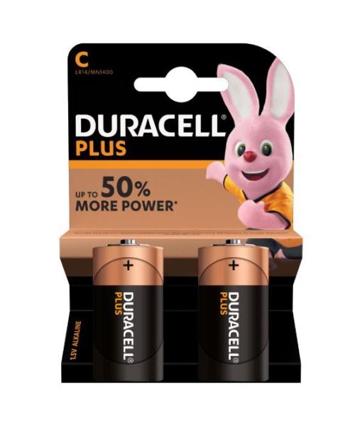 Duracell Plus C batterijen 2 stuks