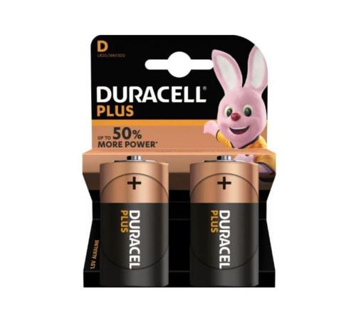 Duracell Plus D batterijen 2 stuks