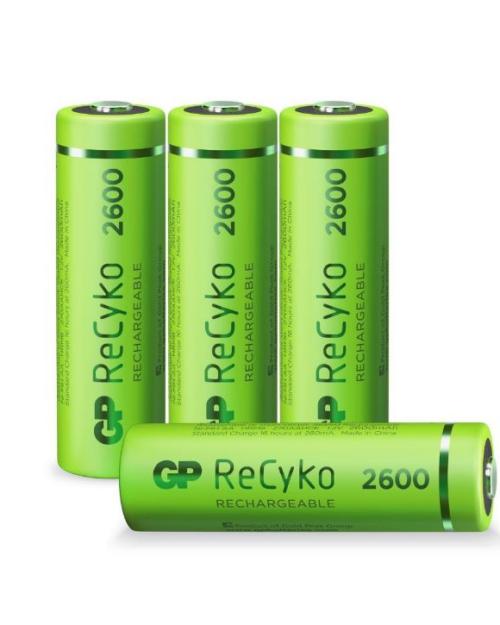 GP ReCyko+ AA 2600mAh oplaadbare batterijen 4 stuks