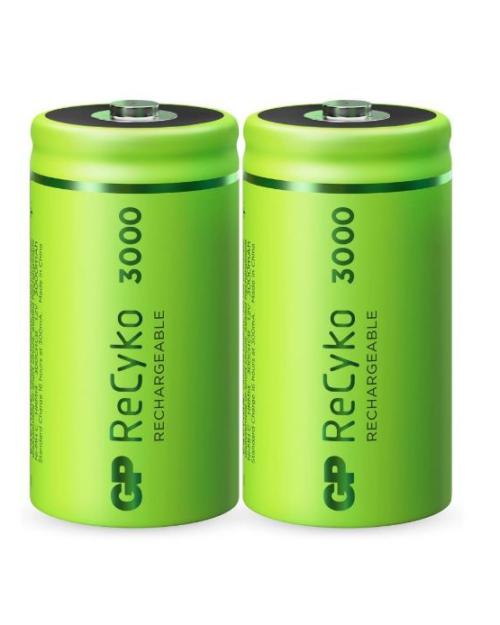 GP ReCyko+ C 3000mAh oplaadbare batterijen 2 stuks