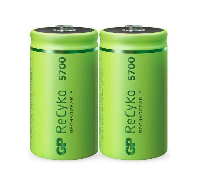GP ReCyko+ D 5700mAh oplaadbare batterijen 2 stuks