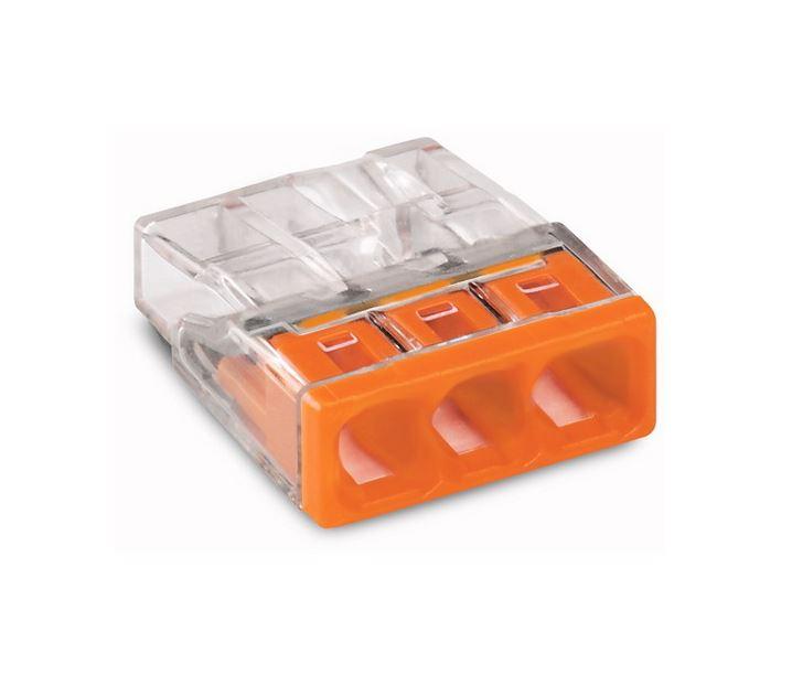 Wago lasklemmen 3 polig oranje