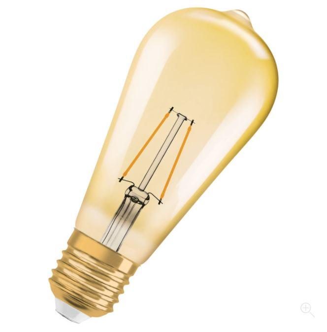 Ledvance Vintage 1906 LED EDISON22 E27 2400K
